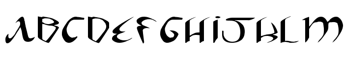 Xaphan II Expanded Font UPPERCASE