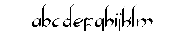 Xaphan Font LOWERCASE