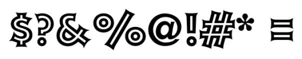 Xavier Inline Font OTHER CHARS
