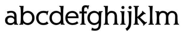 Xavier Serif Regular Font LOWERCASE