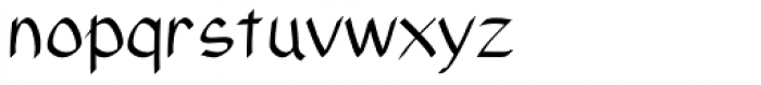 Xahosch Regular Font LOWERCASE