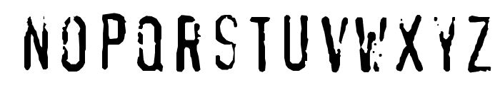 XBAND Rough Font LOWERCASE