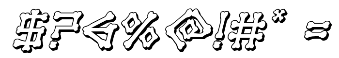 xBONES 3D Italic Font OTHER CHARS