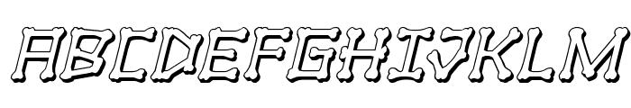 xBONES 3D Italic Font UPPERCASE