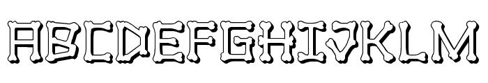 xBONES 3D Font UPPERCASE