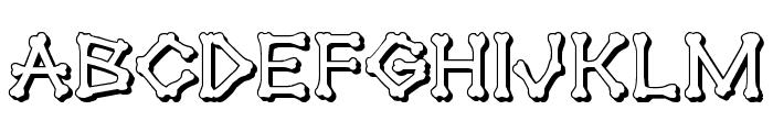 xBONES 3D Font LOWERCASE