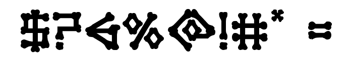 xBONES Bold Font OTHER CHARS