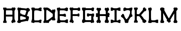 xBONES Bold Font UPPERCASE