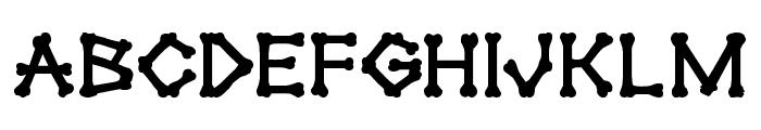 xBONES Bold Font LOWERCASE