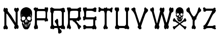 xBONES Condensed Font UPPERCASE