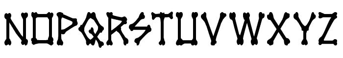 xBONES Condensed Font LOWERCASE
