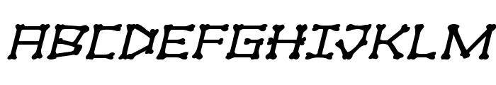 xBONES Expanded Italic Font UPPERCASE