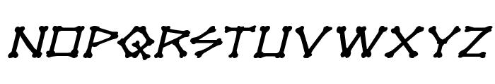 xBONES Expanded Italic Font LOWERCASE