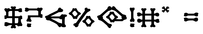 xBONES Expanded Font OTHER CHARS