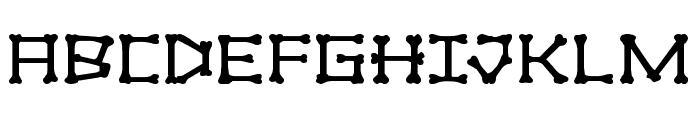 xBONES Expanded Font UPPERCASE