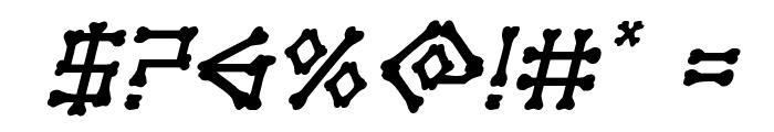 xBONES Italic Font OTHER CHARS