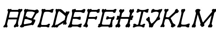 xBONES Italic Font UPPERCASE