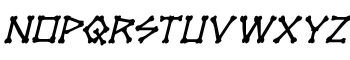 xBONES Italic Font LOWERCASE