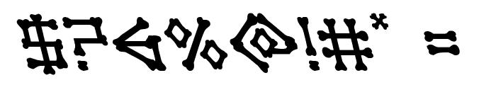 xBONES Leftalic Font OTHER CHARS