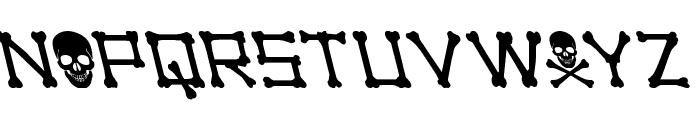 xBONES Leftalic Font UPPERCASE