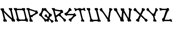 xBONES Leftalic Font LOWERCASE