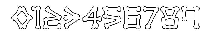xBONES Outline Font OTHER CHARS