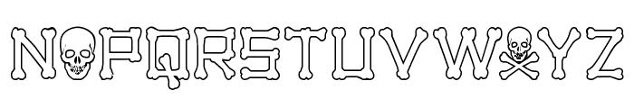 xBONES Outline Font UPPERCASE