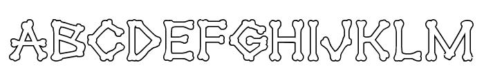 xBONES Outline Font LOWERCASE