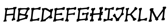 xBONES Rotalic Font UPPERCASE
