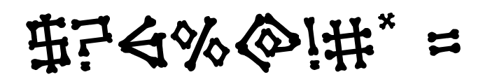 xBONES Rotated Font OTHER CHARS