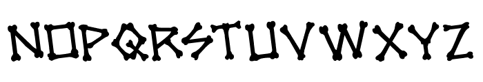 xBONES Rotated Font LOWERCASE