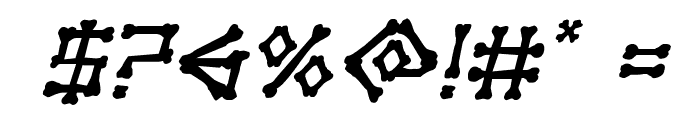 xBONES Rough Italic Font OTHER CHARS