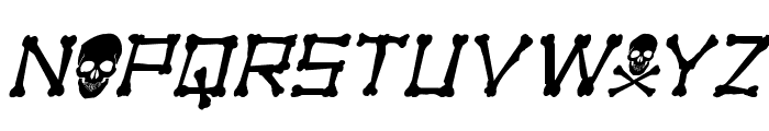 xBONES Rough Italic Font UPPERCASE