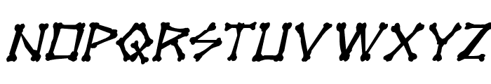 xBONES Rough Italic Font LOWERCASE