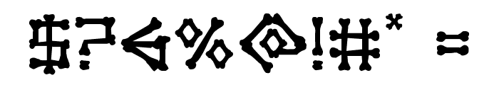 xBONES Rough Font OTHER CHARS