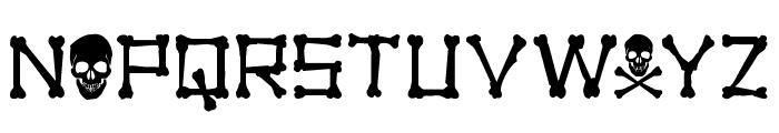 xBONES Rough Font UPPERCASE
