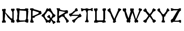 xBONES Rough Font LOWERCASE