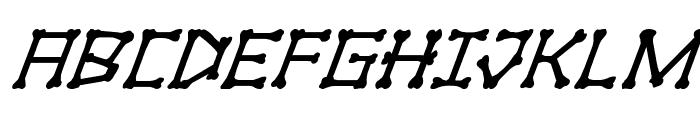 xBONES Super-Italic Font UPPERCASE
