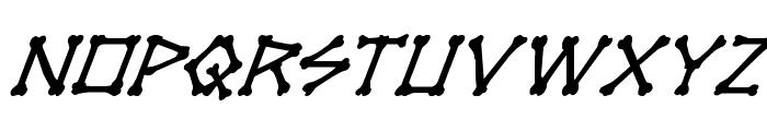 xBONES Super-Italic Font LOWERCASE