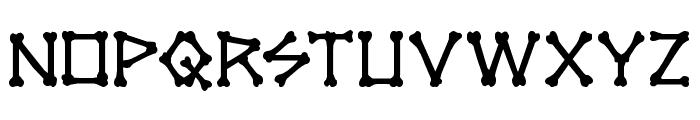 xBONES Font LOWERCASE