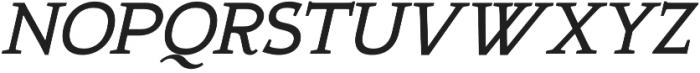 Xcetera Bold italic otf (700) Font UPPERCASE