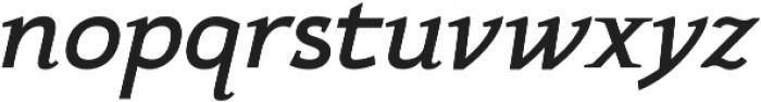 Xcetera Bold italic otf (700) Font LOWERCASE