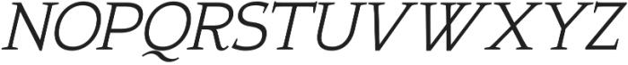 Xcetera Italic otf (400) Font UPPERCASE