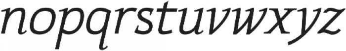 Xcetera Italic otf (400) Font LOWERCASE