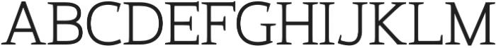 Xcetera Regular otf (400) Font UPPERCASE
