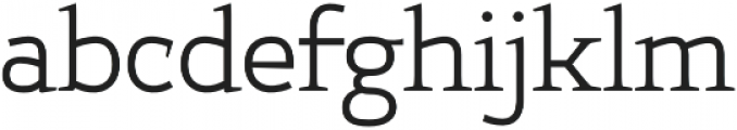 Xcetera Regular otf (400) Font LOWERCASE