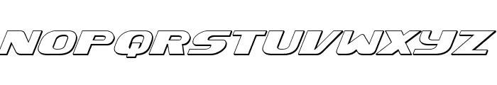 Xcelsion 3D Italic Italic Font LOWERCASE