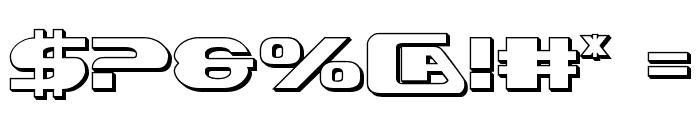 Xcelsion 3D Font OTHER CHARS
