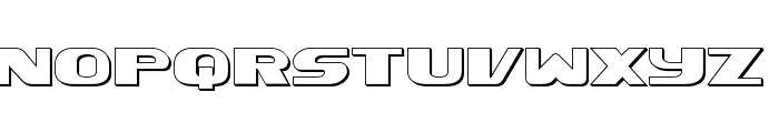 Xcelsion 3D Font LOWERCASE