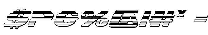 Xcelsion Chrome Italic Italic Font OTHER CHARS